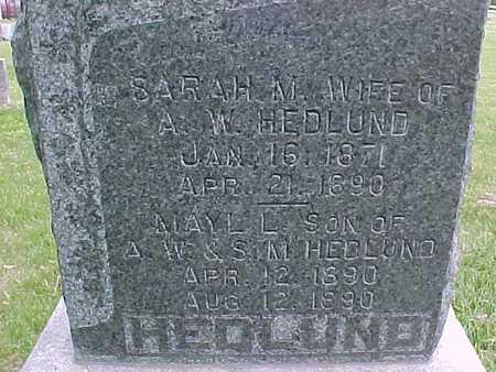 HEDLUND, SARAH - Henry County, Iowa   SARAH HEDLUND