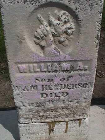 HENDERSON, WILLIAM A. - Henry County, Iowa | WILLIAM A. HENDERSON