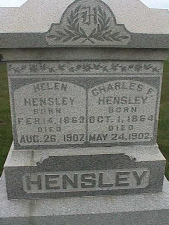 HENSLEY, CHARLES F. - Henry County, Iowa | CHARLES F. HENSLEY
