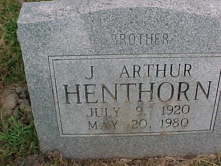 HENTHORN, J. ARTHUR - Henry County, Iowa | J. ARTHUR HENTHORN