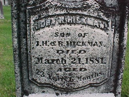 HICKMAN, JOHN H - Henry County, Iowa | JOHN H HICKMAN