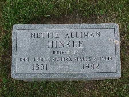 HINKLE, NETTIE - Henry County, Iowa   NETTIE HINKLE