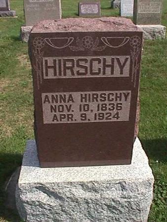 HIRSCHY, ANNA - Henry County, Iowa   ANNA HIRSCHY