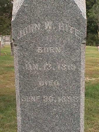 HITE, JOHN W - Henry County, Iowa   JOHN W HITE