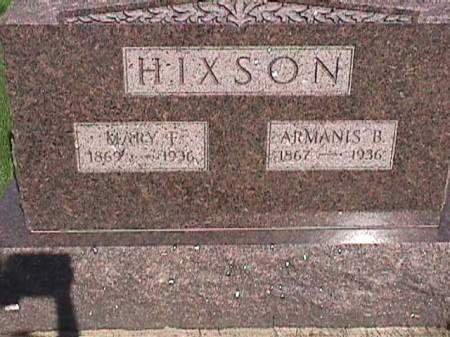 HIXSON, ARMANIS B. - Henry County, Iowa   ARMANIS B. HIXSON