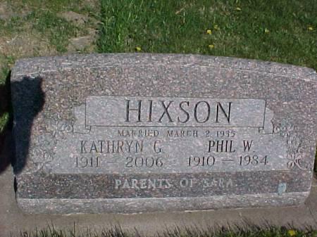 HIXSON, PHIL W. - Henry County, Iowa   PHIL W. HIXSON