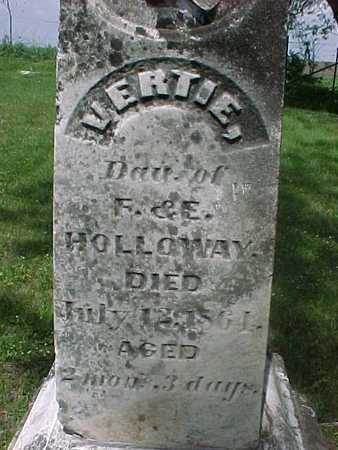HOLLOWAY, VERTIE - Henry County, Iowa   VERTIE HOLLOWAY