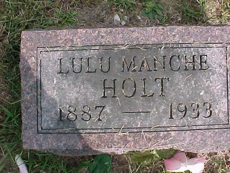 MANCHE HOLT, LULU - Henry County, Iowa | LULU MANCHE HOLT