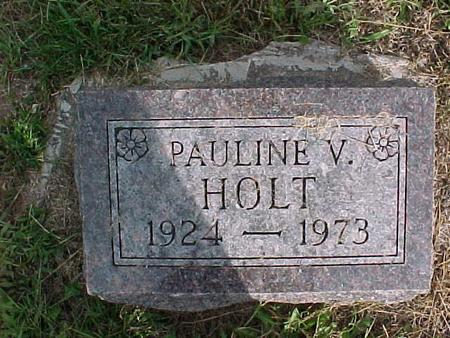 HOLT, PAULINE V. - Henry County, Iowa   PAULINE V. HOLT