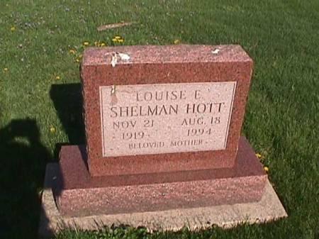 SHELMAN HOTT, LOUISE E. - Henry County, Iowa | LOUISE E. SHELMAN HOTT