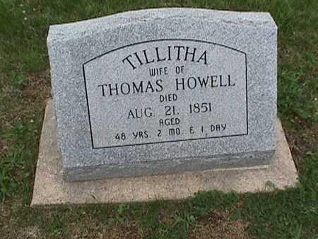 HOWELL, TILLITHA - Henry County, Iowa | TILLITHA HOWELL