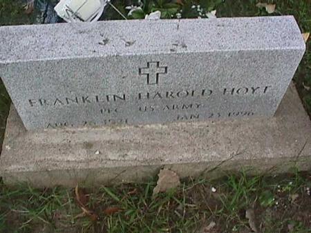 HOYT, FRANKLIN HAROLD - Henry County, Iowa | FRANKLIN HAROLD HOYT