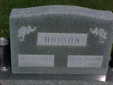 HUDSON, ISAAC JUNIOR - Henry County, Iowa   ISAAC JUNIOR HUDSON