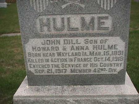 HULME, JOHN DILL - Henry County, Iowa | JOHN DILL HULME