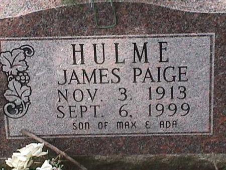HULME, JAMES PAIGE - Henry County, Iowa   JAMES PAIGE HULME