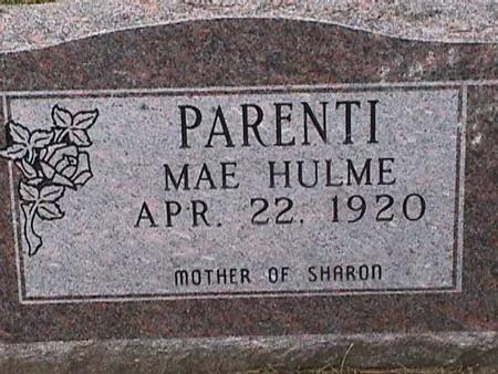 PARENTI, MAE - Henry County, Iowa   MAE PARENTI