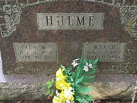 HULME, MAX H - Henry County, Iowa   MAX H HULME