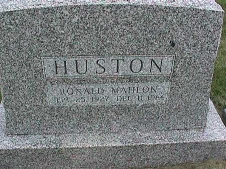 HUSTON, RONALD MAHLON - Henry County, Iowa   RONALD MAHLON HUSTON