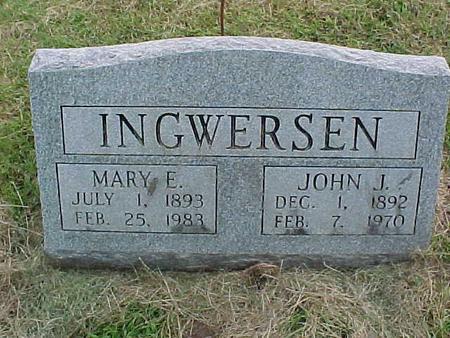 INGWERSEN, JOHN J - Henry County, Iowa | JOHN J INGWERSEN