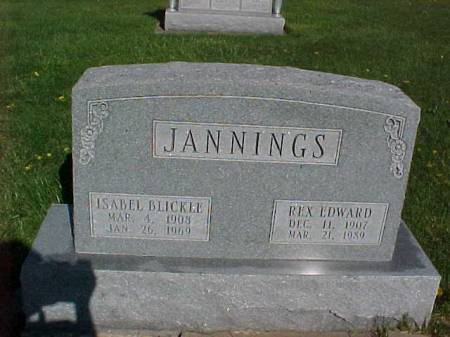 BLICKLE JANNINGS, ISABEL - Henry County, Iowa | ISABEL BLICKLE JANNINGS