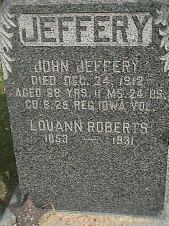 ROBERTS JEFFERY, LOUANN - Henry County, Iowa | LOUANN ROBERTS JEFFERY