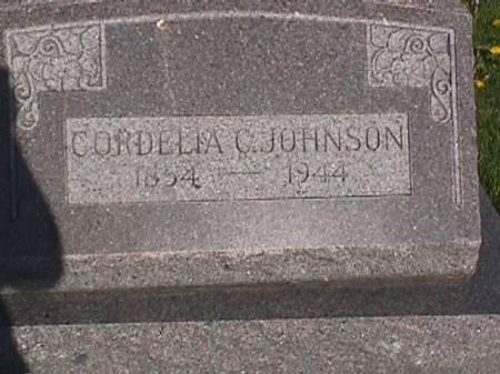 JOHNSON, CORDELIA C. - Henry County, Iowa | CORDELIA C. JOHNSON