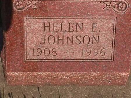 JOHNSON, HELEN E. - Henry County, Iowa   HELEN E. JOHNSON