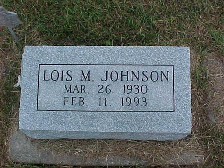 JOHNSON, LOIS M. - Henry County, Iowa   LOIS M. JOHNSON