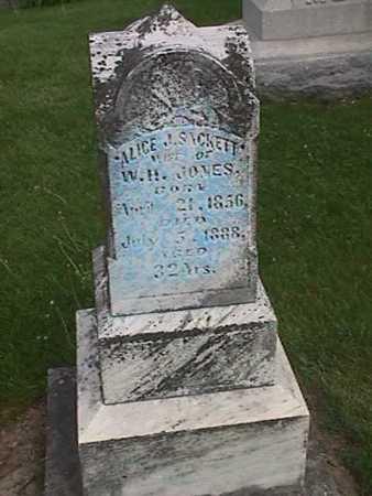 SACKETT JONES, ALICE J - Henry County, Iowa   ALICE J SACKETT JONES