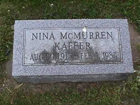 MCMURREN KAFFER, NINA - Henry County, Iowa | NINA MCMURREN KAFFER