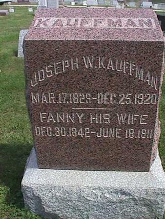 KAUFFMAN, FANNY - Henry County, Iowa | FANNY KAUFFMAN