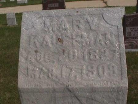 KAUFFMAN, MARY - Henry County, Iowa | MARY KAUFFMAN