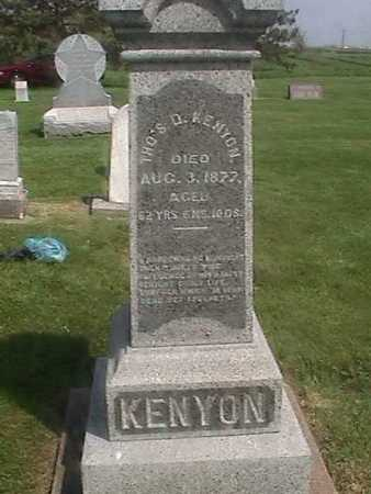 KENYON, THOMAS D. - Henry County, Iowa | THOMAS D. KENYON