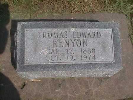 KENYON, THOMAS EDWARD - Henry County, Iowa | THOMAS EDWARD KENYON