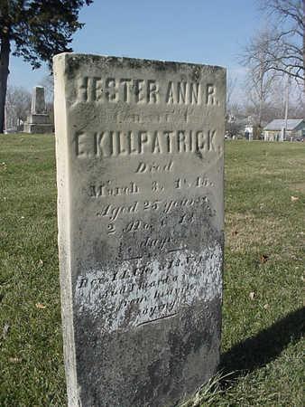 KILLPATRICK, HESTER ANN R. - Henry County, Iowa | HESTER ANN R. KILLPATRICK