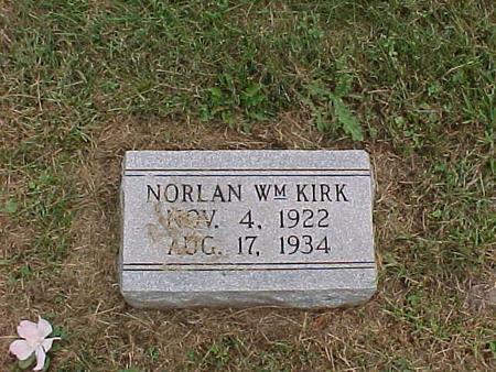 KIRK, NORLAN WILLIAM - Henry County, Iowa | NORLAN WILLIAM KIRK