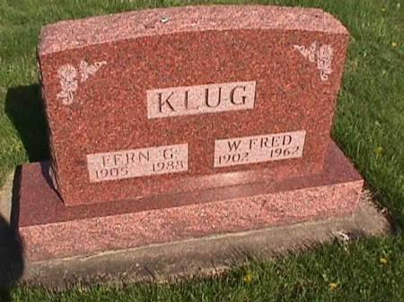 KLUG, W. FRED - Henry County, Iowa   W. FRED KLUG