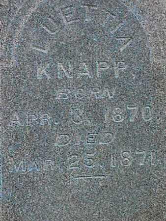 KNAPP, LUETTA - Henry County, Iowa | LUETTA KNAPP