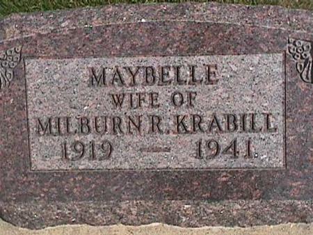 KRABILL, MAYBELLE - Henry County, Iowa | MAYBELLE KRABILL