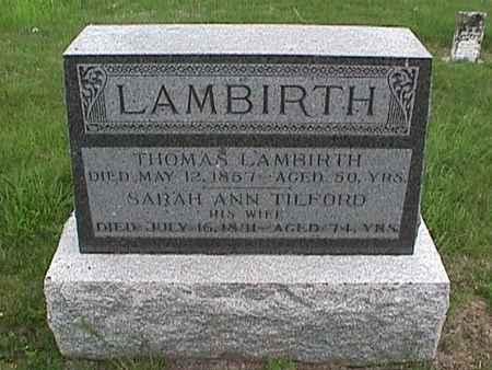LAMBIRTH, SARAH ANN - Henry County, Iowa | SARAH ANN LAMBIRTH