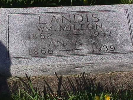 LANDIS, ANNA E. - Henry County, Iowa   ANNA E. LANDIS
