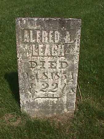 LEACH, ALFRED A - Henry County, Iowa   ALFRED A LEACH