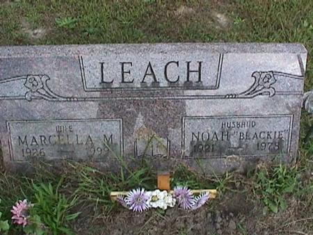LEACH, MARCELLA M - Henry County, Iowa   MARCELLA M LEACH