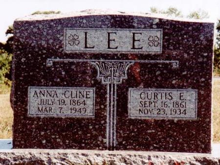 LEE, CURTIS E. & ANNA CLINE - Henry County, Iowa   CURTIS E. & ANNA CLINE LEE