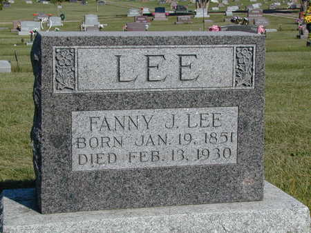 LEE, FANNIE J. - Henry County, Iowa | FANNIE J. LEE