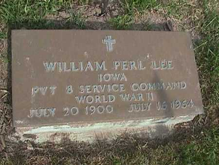 LEE, WILLIAM PERL - Henry County, Iowa   WILLIAM PERL LEE