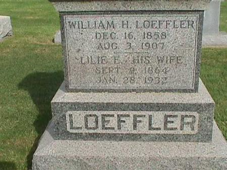 LOEFFLER, WILLIAM H - Henry County, Iowa | WILLIAM H LOEFFLER