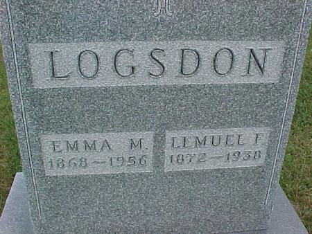 LOGSDON, LEMUEL - Henry County, Iowa | LEMUEL LOGSDON