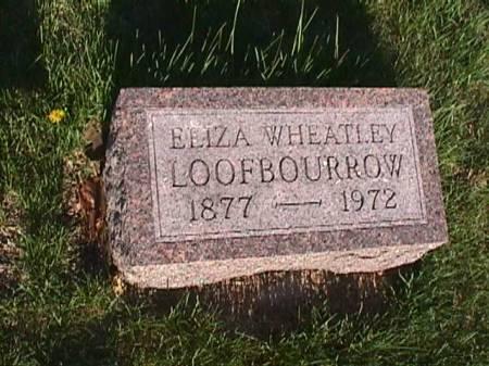 WHEATLEY LOOFBOURROW, ELIZA - Henry County, Iowa   ELIZA WHEATLEY LOOFBOURROW