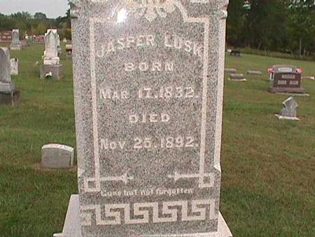 LUSK, JASPER - Henry County, Iowa   JASPER LUSK